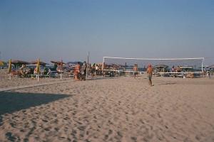 campo da beach in spiaggia